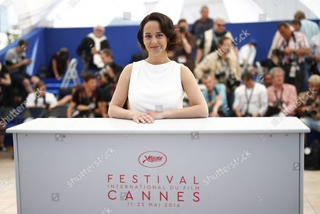 Stock Image of French Actress Pauline Caupenne Poses During the Photocall For 'La Foret De Quinconces' (fool Moon) at the 69th Annual Cannes Film Festival in Cannes France 17 May 2016 the Movie is Presented in the Section Special Screenings of the Festival Which Runs From 11 to 22 May France Cannes