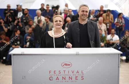 Stock Image of (l-r) Romanian Actress Dana Dogaru and Romanian Actor Mimi Branescu Pose During the Photocall For 'Sieranevada' at the 69th Annual Cannes Film Festival in Cannes France 12 May 2016 the Movie is Presented in the Official Competition of the Festival Which Runs From 11 to 22 May France Cannes