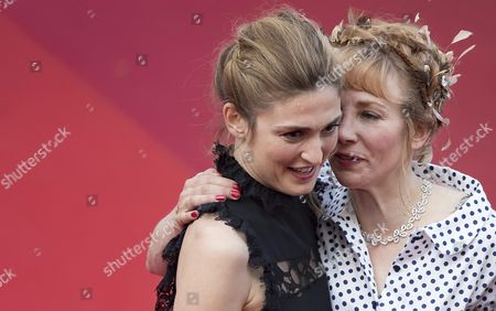 French Actress Julie Gayet and French Actress Julie Depardieu Arrive For the Screening of 'La Fille Inconnue' (the Unknown Girl) During the 69th Annual Cannes Film Festival in Cannes France 18 May 2016 the Movie is Presented in the Official Competition of the Festival Which Runs From 11 to 22 May France Cannes