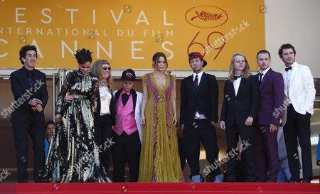 (l-r) Irish Cinematographer Robbie Ryan Us Actress Sasha Lane British Director Andrea Arnold Us Actress Veronica Ezell Us Actress Riley Keough Us Actor Raymond Coalson Us Actor Isaiah Stone Us Actor Mccaul Lombardi and Us Actor Shia Labeouf Arrive For the Screening of 'American Honey' During the 69th Annual Cannes Film Festival in Cannes France 15 May 2016 the Movie is Presented in the Official Competition of the Festival Which Runs From 11 to 22 May France Cannes