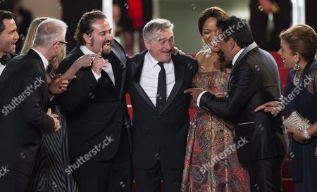 (l-r) Venezuelan Actor Edgar Ramirez General Delegate of the Festival Thierry Fremaux Venezuelan Director Jonathan Jakubowicz Us Actor Robert De Niro Grace Hightower De Niro Panamanian Boxer Roberto Duran and Guests Arrive For the Screening of 'Hands of Stone' During the 69th Annual Cannes Film Festival in Cannes France 16 May 2016 the Movie is Presented out of Competition at the Festival Which Runs From 11 to 22 May France Cannes