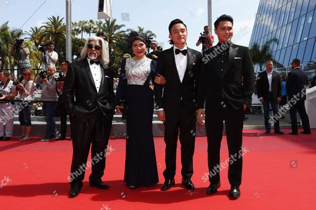 (l-r) Malaysian Actor Su Wan Hanafi Singaporean Actress Mastura Ahmad Singaporean Director Boo Junfeng and Singaporean Actor Firdaus Rahman Arrive For the Screening of 'Paterson' During the 69th Annual Cannes Film Festival in Cannes France 16 May 2016 the Movie is Presented in the Official Competition of the Festival Which Runs From 11 to 22 May France Cannes