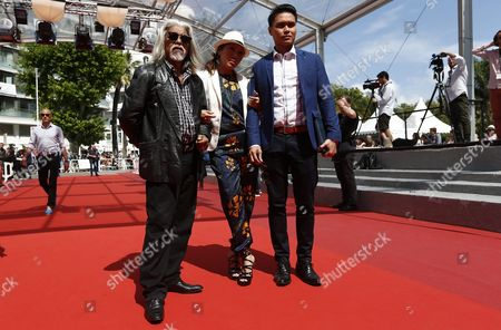 (l-r) Malaysian Actor Su Wan Hanafi Singaporean Actress Mastura Ahmad and Singaporean Actor Firdaus Rahman Arrive For the Screening of 'Ma'rosa' During the 69th Annual Cannes Film Festival in Cannes France 18 May 2016 the Movie is Presented in the Official Competition of the Festival Which Runs From 11 to 22 May France Cannes