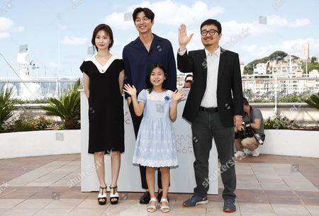 (l-r) South-korean Actress Jung Yu-mi South-korean Actor Gong Yoo South-korean Actress Kim Su-an and South-korean Director Yeon Sang-ho Pose During the Photocall For 'Bu-san-haeng' (train to Busan) at the 69th Annual Cannes Film Festival in Cannes France 14 May 2016 the Movie is Presented out of Competition at the Festival Which Runs From 11 to 22 May France Cannes