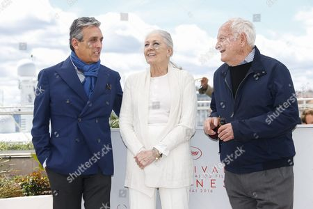 (l-r) Us Distributor Charles S Cohen British Actress Vanessa Redgrave and Us Director Jim Ivory Pose During the Photocall For 'Howards End' at the 69th Annual Cannes Film Festival in Cannes France 12 May 2016 the Movie is Presented in the Section Cannes Classsics of the Festival Which Runs From 11 to 22 May France Cannes