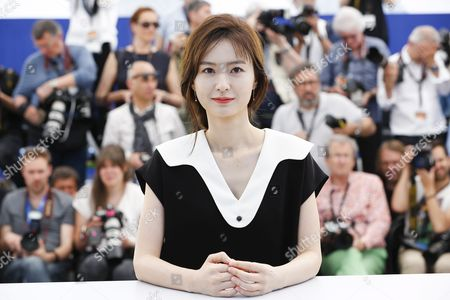 Stock Image of South-korean Actress Jung Yu-mi Poses During the Photocall For 'Bu-san-haeng' (train to Busan) at the 69th Annual Cannes Film Festival in Cannes France 14 May 2016 the Movie is Presented out of Competition at the Festival Which Runs From 11 to 22 May France Cannes