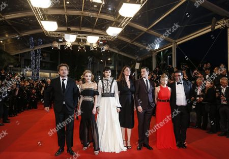 (l-r) French Actor Louis-do De Lencquesaing French Us Actress Lily-rose Depp French Actress Soko French Director Stephanie Di Giusto French Actor Gaspard Ulliel French Actress Melanie Thierry and French Producer Alain Attal Arrive For the Screening of 'I Daniel Blake' During the 69th Annual Cannes Film Festival in Cannes France 13 May 2016 the Movie is Presented in the Official Competition of the Festival Which Runs From 11 to 22 May France Cannes