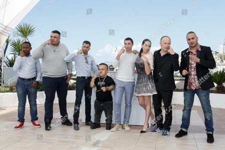 (l-r) French Actor Foziwa Mohamed French Actor Foued Nabba French Actor Zine Darar French Actor Tony Fourmann French Actor Sofian Khammes French Actress Nailia Harzoune French Director Karim Dridi and French Actor Oussama Abdul Aal Pose During the Photocall For 'Chouf' at the 69th Annual Cannes Film Festival in Cannes France 16 May 2016 the Movie is Presented out of Competition in the Special Screenings Section at the Festival Which Runs From 11 to 22 May France Cannes