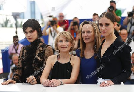 (l-r) French Actress Soko French Director Muriel Coulin French Director Delphine Coulin and Greek-born French Actress Ariane Labed Pose During the Photocall For 'Voir Du Pays' (the Stopover) at the 69th Annual Cannes Film Festival in Cannes France 18 May 2016 the Movie is Presented in the Section Un Certain Regard of the Festival Which Runs From 11 to 22 May France Cannes