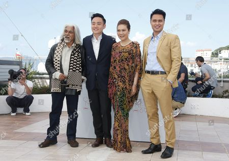 (l-r) Malaysian Actor Su Wan Hanafi Singaporean Director Boo Junfeng Singaporean Actress Mastura Ahmad and Singaporean Actor Firdaus Rahman Pose During the Photocall For 'Apprentice' at the 69th Annual Cannes Film Festival in Cannes France 16 May 2016 the Movie is Presented in the Section Un Certain Regard of the Festival Which Runs From 11 to 22 May France Cannes