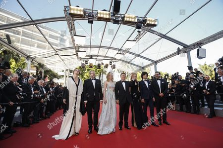 (l-r) Romanian Actor Adrian Titieni Romanian Actress Maria Dragus Romanian Director Cristian Mungiu Romanian Actress Malina Manovici Romanian Actor Rares Andrici and Guests Arrive For the Screening of 'Bacalaureat' During the 69th Annual Cannes Film Festival in Cannes France 19 May 2016 the Movie is Presented in the Official Competition of the Festival Which Runs From 11 to 22 May France Cannes
