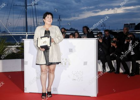 Philippino Actress Jaclyn Jose Poses with Her Best Performance by an Actress Award For 'Ma'rosa' During the Award Winners Photocall at the 69th Annual Cannes Film Festival in Cannes France 22 May 2016 France Cannes
