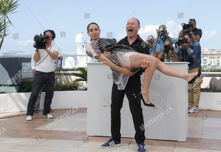 French Actress Nailia Harzoune (l) and French Director Karim Dridi (r) Pose During the Photocall For 'Chouf' at the 69th Annual Cannes Film Festival in Cannes France 16 May 2016 the Movie is Presented out of Competition in the Special Screenings Section at the Festival Which Runs From 11 to 22 May France Cannes