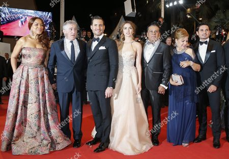 (l-r) Grace Hightower De Niro Us Actor Robert De Niro Venezuelan Actor Edgar Ramirez Cuban Actress Ana De Armas Panamanian Boxer Roberto Duran Venezuelan Director Jonathan Jakubowicz and Guests Arrive For the Screening of 'Hands of Stone' During the 69th Annual Cannes Film Festival in Cannes France 16 May 2016 the Movie is Presented out of Competition at the Festival Which Runs From 11 to 22 May France Cannes
