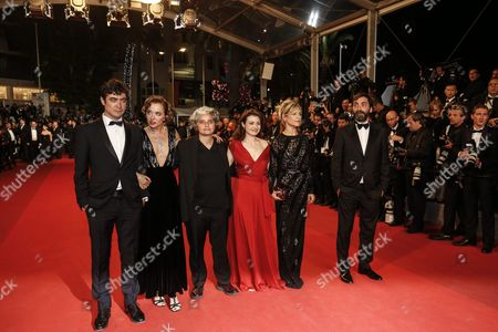 (l-r) Italian Actor Riccardo Scamarcio Italian Actress Valeria Golino Italian Producer Viola Prestieri Italian Actress Valentina Acca French Actress Marina Fois and Italian Director Stefano Mordini Arrive For the Screening of 'Juste La Fin Du Monde' (it's Only the End of the World) During the 69th Annual Cannes Film Festival in Cannes France 19 May 2016 the Movie is Presented in the Official Competition of the Festival Which Runs From 11 to 22 May France Cannes