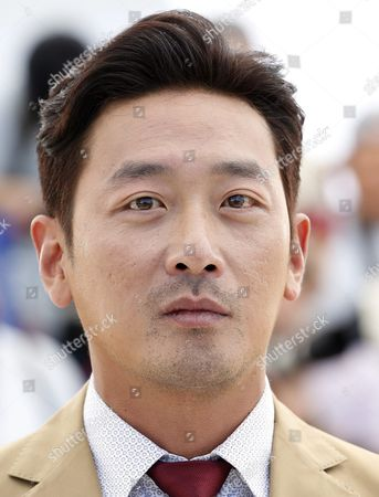 South-korean Actor Ha Jung-woo Poses During the Photocall For 'Mademoiselle' (the Handmaiden) at the 69th Annual Cannes Film Festival in Cannes France 14 May 2016 the Movie is Presented in the Official Competition of the Festival Which Runs From 11 to 22 May France Cannes