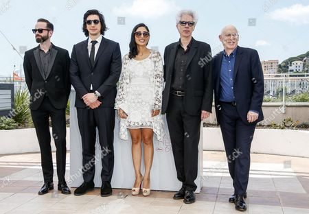 (l-r) Brazilian Editor Affonso Goncalves Us Actor Adam Driver Iranian Actress Golshifteh Farahani Us Director Jim Jarmusch and Us Producer Joshua Astrachan Pose During the Photocall For 'Paterson' at the 69th Annual Cannes Film Festival in Cannes France 16 May 2016 the Movie is Presented in the Official Competition of the Festival Which Runs From 11 to 22 May France Cannes
