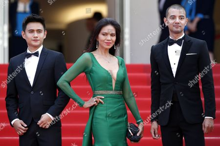 (l-r) Filipino Actor Jomari Angeles Filipino Actress Maria Isabel Lopez and Filipino Screenwriter Troy Espiritu Arrive For the Screening of 'Ma'rosa' During the 69th Annual Cannes Film Festival in Cannes France 18 May 2016 the Movie is Presented in the Official Competition of the Festival Which Runs From 11 to 22 May France Cannes