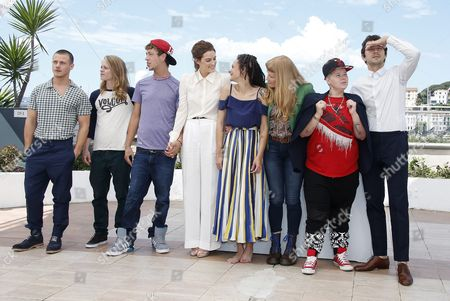 (l-r) Us Actor Mccaul Lombardi Us Actor Isaiah Stone Us Actor Raymond Coalson Us Actress Riley Keough Us Actress Sasha Lane British Director Andrea Arnold Us Actress Veronica Ezell and Us Actor Shia Labeouf Pose During the Photocall For 'American Honey' at the 69th Annual Cannes Film Festival in Cannes France 15 May 2016 the Movie is Presented in the Official Competition of the Festival Which Runs From 11 to 22 May France Cannes