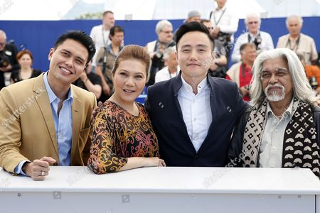 (l-r) Singaporean Actor Firdaus Rahman Singaporean Actress Mastura Ahmad Singaporean Director Boo Junfeng and Malaysian Actor Su Wan Hanafi Pose During the Photocall For 'Apprentice' at the 69th Annual Cannes Film Festival in Cannes France 16 May 2016 the Movie is Presented in the Section Un Certain Regard of the Festival Which Runs From 11 to 22 May France Cannes