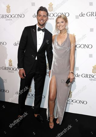 German Model Toni Garrn (r) and Us Basketball Player Chandler Parsons (l) Attend the Party Held by Swiss Jewelry Company De Grisogono at the Hotel Du Cap Eden Roc in Cap D'antibes France 17 May 2016 During the 69th Annual Cannes Film Festival the Festival Runs From 11 to 22 May France Cap D'antibes