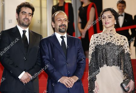 (l-r) Iranian Actor Shahab Hosseini Iranian Actress Taraneh Alidoosti and Iranian Director Ashgar Farhadi Arrive For the Screening of 'Forushande' (the Salesman) During the 69th Annual Cannes Film Festival in Cannes France 21 May 2016 the Movie is Presented in the Official Competition of the Festival Which Runs From 11 to 22 May France Cannes