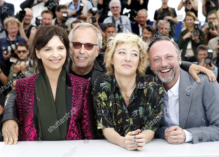 (l-r) French Actress Juliette Binoche French Actor Fabrice Luchini French Italian Actress Valeria Bruni-tedeschi and French Actor Jean-luc Vincent Pose During the Photocall For 'Ma Loute' (slack Bay) at the 69th Annual Cannes Film Festival in Cannes France 13 May 2016 the Movie is Presented in the Official Competition of the Festival Which Runs From 11 to 22 May France Cannes