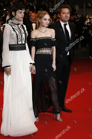 (l-r) French Actress Soko French Us Actress Lily-rose Depp and French Actor Louis-do De Lencquesaing Arrive For the Screening of 'I Daniel Blake' During the 69th Annual Cannes Film Festival in Cannes France 13 May 2016 the Movie is Presented in the Official Competition of the Festival Which Runs From 11 to 22 May France Cannes