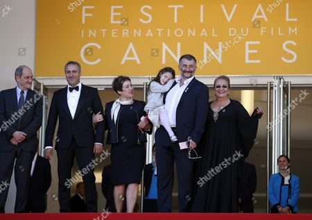 (l-r) Cannes Festival President Pierre Lescure Romanian Actor Mimi Branescu Romanian Producer Anca Puiu Romanian Actress Zoe Puiu Romanian Director Cristi Puiu and Romanian Actress Dana Dogaru Arrive For the Screening of 'Sieranevada' During the 69th Annual Cannes Film Festival in Cannes France 12 May 2016 the Movie is Presented in the Official Competition of the Festival Which Runs From 11 to 22 May France Cannes