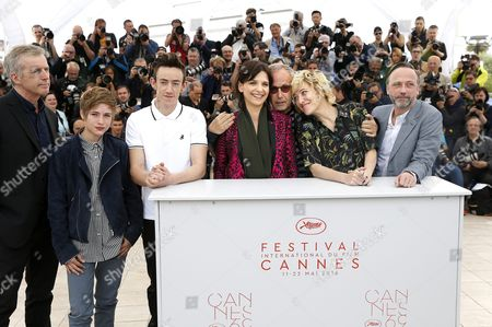 (l-r) French Director Bruno Dumont French Actress Raph French Actor Brandon Lavieville French Actress Juliette Binoche French Actor Fabrice Luchini French Italian Actress Valeria Bruni-tedeschi and French Actor Jean-luc Vincent Pose During the Photocall For 'Ma Loute' (slack Bay) at the 69th Annual Cannes Film Festival in Cannes France 13 May 2016 the Movie is Presented in the Official Competition of the Festival Which Runs From 11 to 22 May France Cannes