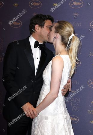 Australian Actress Melissa George (r) and Partner Jean David Blanc (l) Kiss As They Arrive For the Opening Dinner of the 69th Annual Cannes Film Festival in Cannes France 11 May 2016 the Festival Runs From 11 to 22 May France Cannes