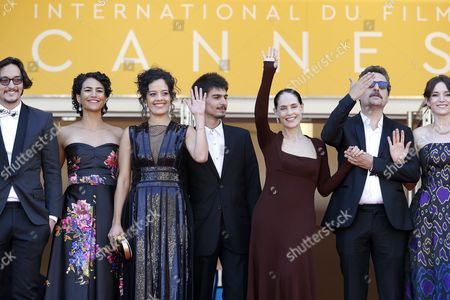 (l-r) Actress Barbara Colen Brazilian Actress Maeve Jinkings Brazilian Actress Sonia Braga Brazilian Actor Pedro Queiroz Brazilian Director Kleber Mendonca Filho and Producer Emilie Lesclaux Arrive For the Screening of 'Aquarius' During the 69th Annual Cannes Film Festival in Cannes France 17 May 2016 the Movie is Presented in the Official Competition of the Festival Which Runs From 11 to 22 May France Cannes