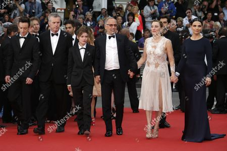 (l-r) French Actor Brandon Lavieville French Director Bruno Dumont French Actress Raph French Actor Fabrice Luchini French Italian Actress Valeria Bruni-tedeschi and French Actress Juliette Binoche Arrive For the Screening of 'Ma Loute' (slack Bay) During the 69th Annual Cannes Film Festival in Cannes France 13 May 2016 the Movie is Presented in the Official Competition of the Festival Which Runs From 11 to 22 May France Cannes