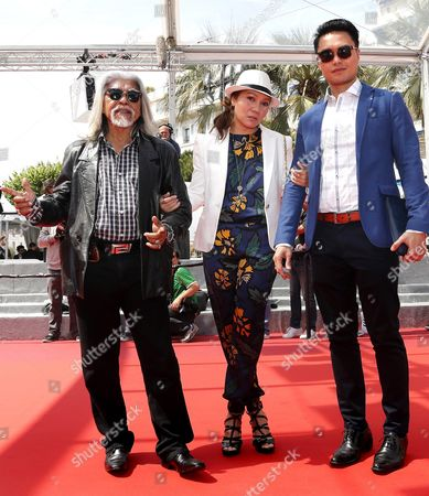 Stock Photo of (l-r) Malaysian Actor Su Wan Hanafi Singaporean Actress Mastura Ahmad and Singaporean Actor Firdaus Rahman Arrive For the Screening of 'Ma'rosa' During the 69th Annual Cannes Film Festival in Cannes France 18 May 2016 the Movie is Presented in the Official Competition of the Festival Which Runs From 11 to 22 May France Cannes