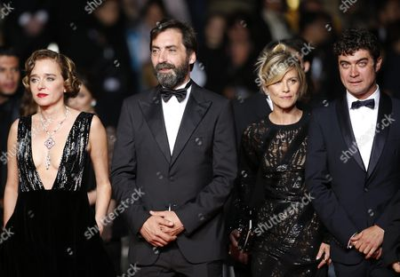 Stock Photo of (l-r) Italian Actress Valeria Golino Italian Director Stefano Mordini French Actress Marina Fois and Italian Actor Riccardo Scamarcio Arrive For the Screening of 'Juste La Fin Du Monde' (it's Only the End of the World) During the 69th Annual Cannes Film Festival in Cannes France 19 May 2016 the Movie is Presented in the Official Competition of the Festival Which Runs From 11 to 22 May France Cannes
