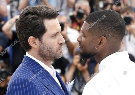 Us Actor and Singer Usher Raymond Iv (r) and Venezuelan Actor Edgar Ramirez (l) Pose During the Photocall For 'Hands of Stone' at the 69th Annual Cannes Film Festival in Cannes France 16 May 2016 the Movie is Presented out of Competition at the Festival Which Runs From 11 to 22 May France Cannes
