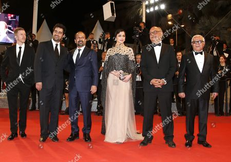 (l-r) French Producer Alexandre Mallet-guy Iranian Actor Shahab Hosseini Iranian Director Ashgar Farhadi Iranian Actress Taraneh Alidoosti Iranian Actor Babak Karimi and Iranian Actor Farid Sajjadihosseini Arrive For the Screening of 'Forushande' (the Salesman) During the 69th Annual Cannes Film Festival in Cannes France 21 May 2016 the Movie is Presented in the Official Competition of the Festival Which Runs From 11 to 22 May France Cannes