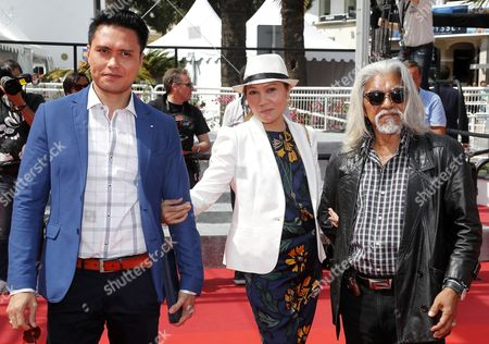 (l-r) Singaporean Actor Firdaus Rahman Singaporean Actress Mastura Ahmad and Malaysian Actor Su Wan Hanafi Arrive For the Screening of 'Ma'rosa' During the 69th Annual Cannes Film Festival in Cannes France 18 May 2016 the Movie is Presented in the Official Competition of the Festival Which Runs From 11 to 22 May France Cannes