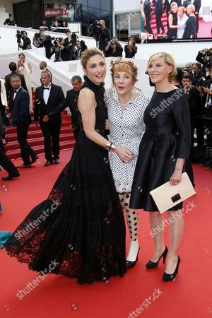 (l-r) French Actress Julie Gayet French Actress Julie Depardieu and French Actress Chantal Ladesou Arrive For the Screening of 'La Fille Inconnue' (the Unknown Girl) During the 69th Annual Cannes Film Festival in Cannes France 18 May 2016 the Movie is Presented in the Official Competition of the Festival Which Runs From 11 to 22 May France Cannes