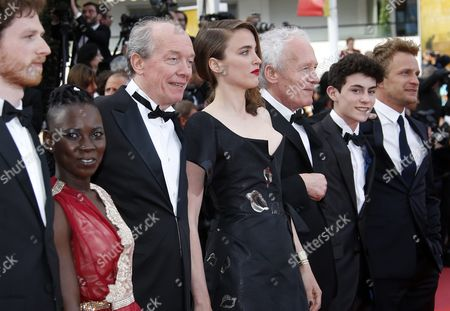 (l-r) Belgian Actor Olivier Bonnaud Burkina Faso Actress Nadege Ouedraogo Belgian Director Luc Dardenne French Actress Adele Haenel Belgian Director Jean-pierre Dardenne Belgian Actor Louka Minnella and Belgian Actor Jeremie Renier Arrive For the Screening of 'La Fille Inconnue' (the Unknown Girl) During the 69th Annual Cannes Film Festival in Cannes France 18 May 2016 the Movie is Presented in the Official Competition of the Festival Which Runs From 11 to 22 May France Cannes