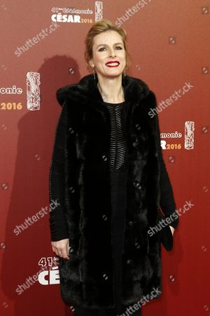 French Actress Karine Viard Arrives For the 41st Annual Cesar Awards Ceremony Held at the Chatelet Theatre in Paris France 26 February 2016 France Paris