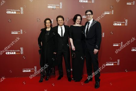 Us Director Mark Osborne (r) and Guests Arrive For the 41st Annual Cesar Awards Ceremony Held at the Chatelet Theatre in Paris France 26 February 2016 France Paris