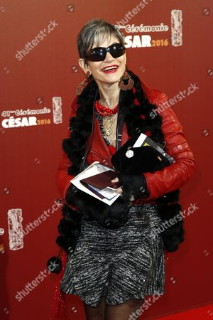 French Journalist Isabelle Morini-bosc Arrives For the 41st Annual Cesar Awards Ceremony Held at the Chatelet Theatre in Paris France 26 February 2016 France Paris