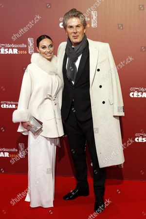 French Businessman Dominique Desseigne (r) and Partner Alexandra Cardinale (l) Arrive For the 41st Annual Cesar Awards Ceremony Held at the Chatelet Theatre in Paris France 26 February 2016 France Paris