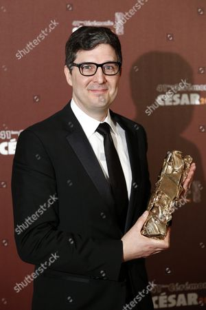 Us Director Mark Osborne Poses with the Best Animated Film Award For 'Le Petit Prince' (the Little Prince) During the 41st Annual Cesar Awards Ceremony Held at the Chatelet Theatre in Paris France 26 February 2016 France Paris