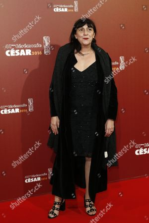 French Producer Sylvie Pialat Arrives For the 41st Annual Cesar Awards Ceremony Held at the Chatelet Theatre in Paris France 26 February 2016 France Paris