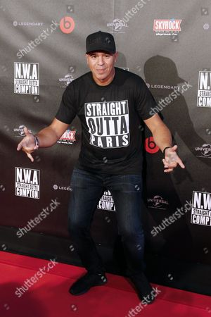 French Dj Cut Killer Arrives For the Premiere of the Film 'Straight Outta Compton' in Paris France 24 August 2015 the Movie Opens Across Theaters on 16 September France Paris