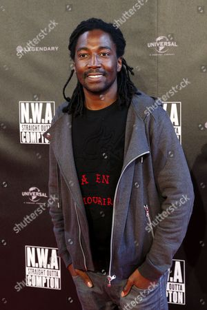 French Actor Noom Diawara Arrives For the Premiere of the Film 'Straight Outta Compton' in Paris France 24 August 2015 the Movie Opens Across Theaters on 16 September France Paris