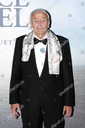 Stock Picture of French Glaciologist Claude Lorius Arrives For the Premiere of the Film 'La Glace Et Le Ciel' (ice and the Sky) in Paris France 07 October 2015 the Movie Opens Across Theaters on 21 October France Paris