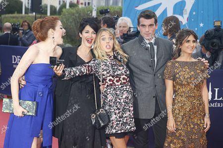 (l-r) Members of the Revelation Jury Canadian Actress Rachelle Lefevre French Actresses Zabou Breitman Alice Isaaz French Actor Stanley Weber and French Actress Geraldine Nakache Arrive on the Red Carpet Prior to the Projection of the Film 'Life' During 41st Deauville American Film Festival in Deauville France 05 September 2015 the Festival Runs From 04 to 13 September France Deauville